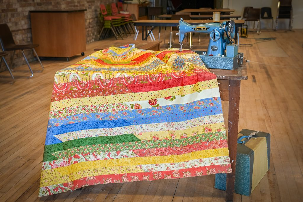 Jelly Roll Quilt Photo for Duluth Folk School