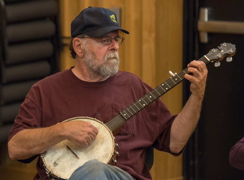 Playing banjo with the Duluth Folk School