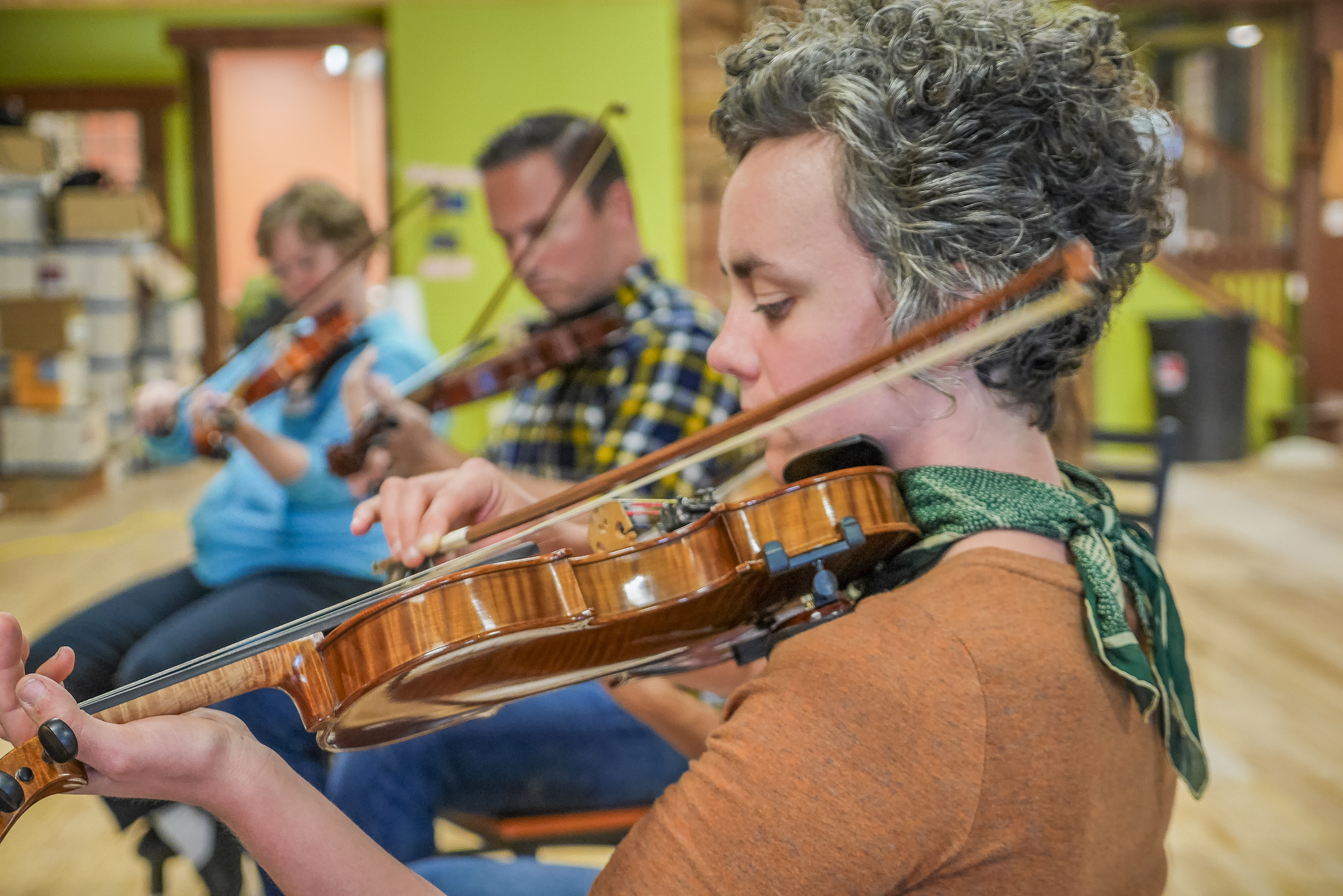 Scandinavian Fiddle Class at the Duluth Folk School