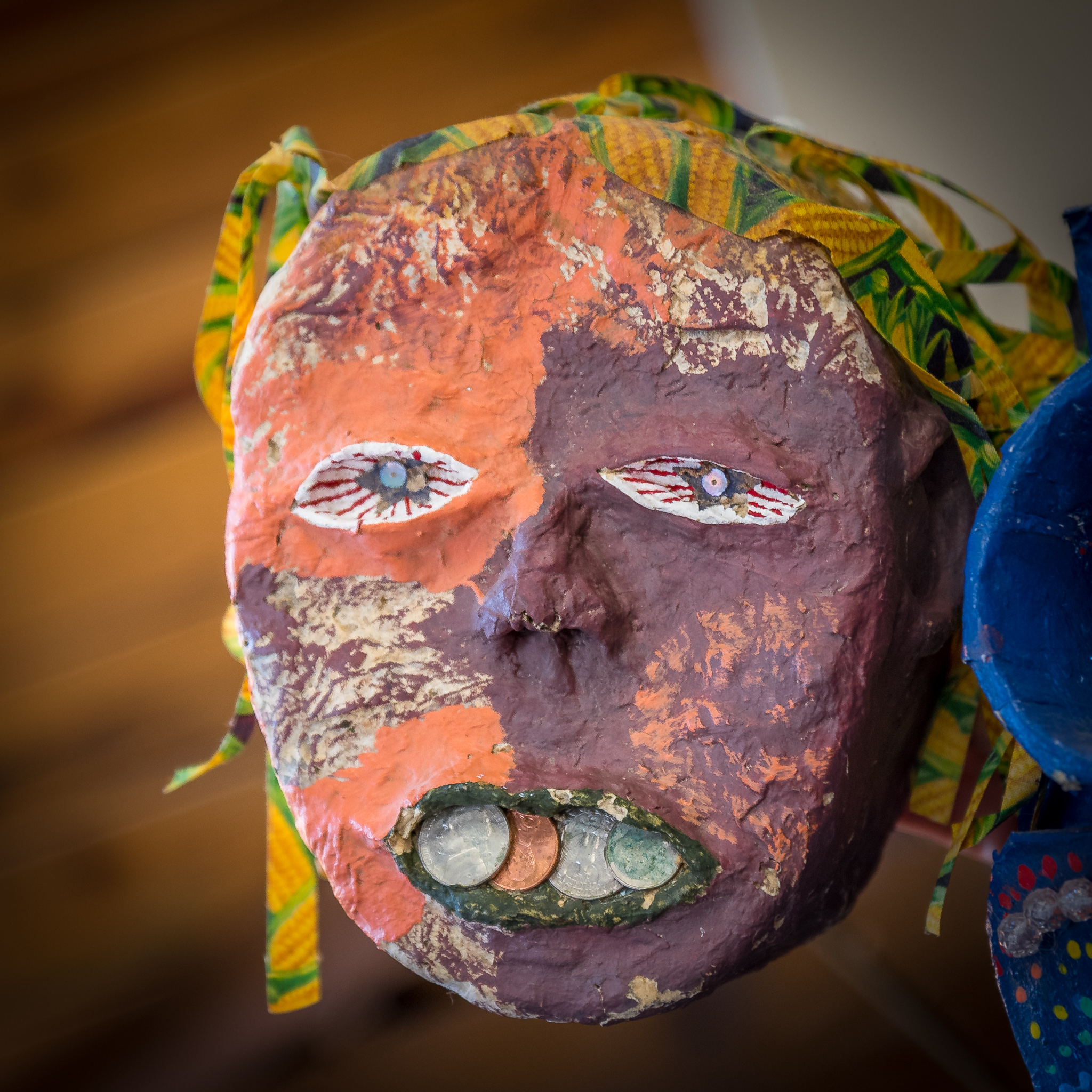 Paper Mache Mask at the Duluth Folk School