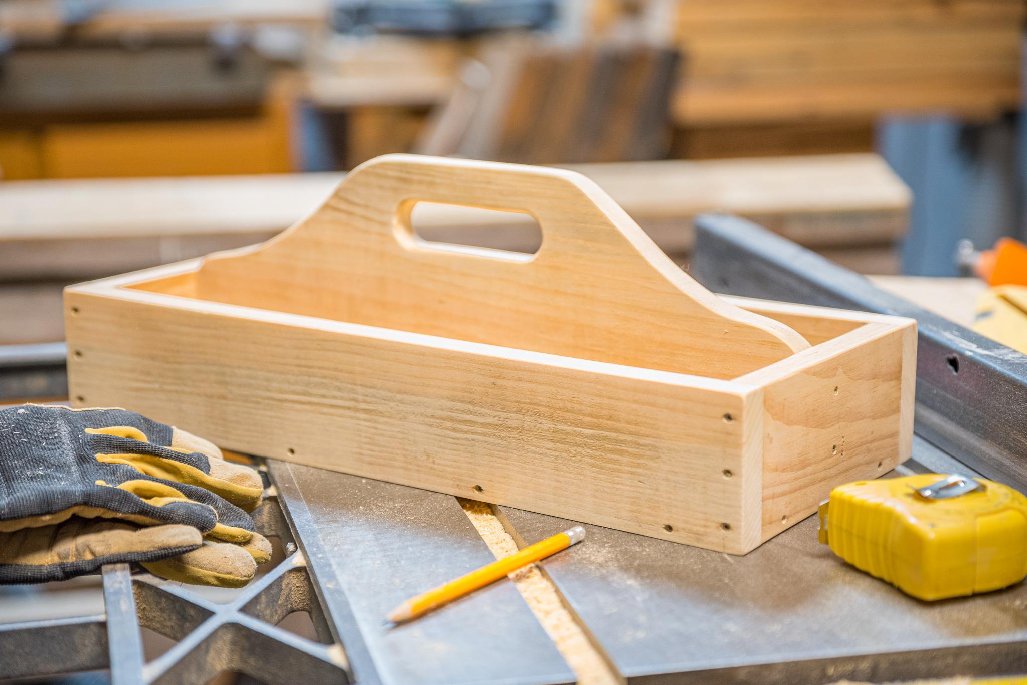 Women Woodworking Shaker Tool Tray at Duluth Folk School